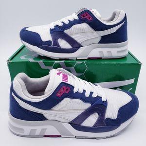 Puma Trinomic XT White Blue Purple Running Shoes W
